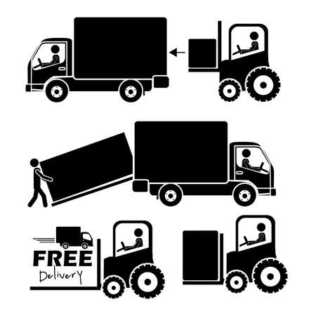 good service: delivery icons over white background vector illustration