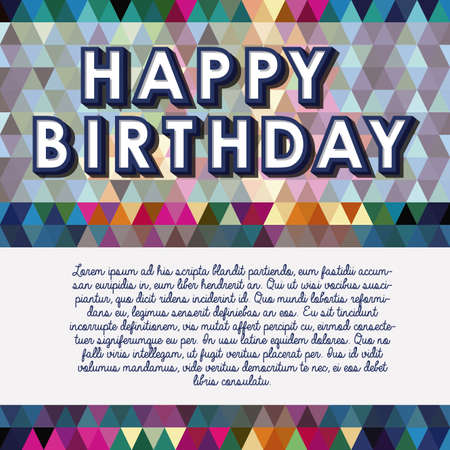 happy birthday design over geometric background vector illustration   Stock Vector - 21517953