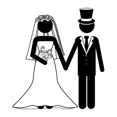wedding design over white background vector illustration  Vector