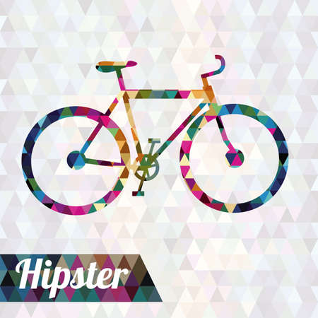 hipster design over geometric bakground vector illustration Vector