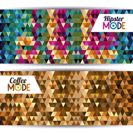 mode label over geometric background vector illustration  Stock Vector - 21517959