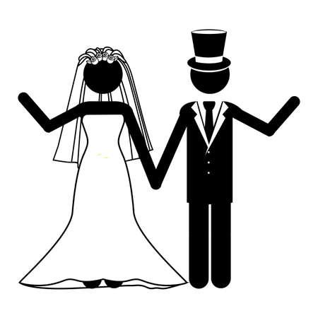 wedding design over white background vector illustration Stock Vector - 21517961