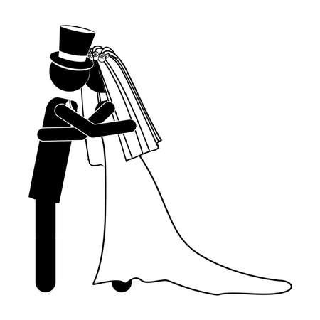 wedding design over white background vector illustration Stock Vector - 21517963