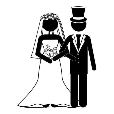 wedding design over white background vector illustration