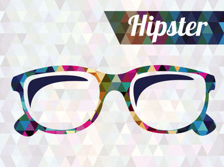 hipster design over geometric background vector  illustration  Ilustração