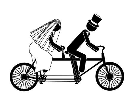 wedding design over white background vector illustration Stock Vector - 21521999