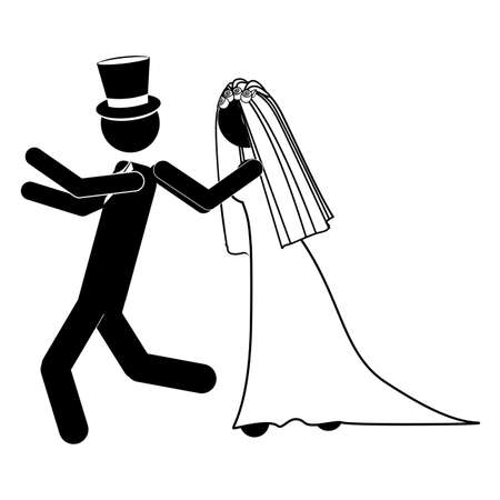 wedding design over white background vector illustration Stock Vector - 21522003
