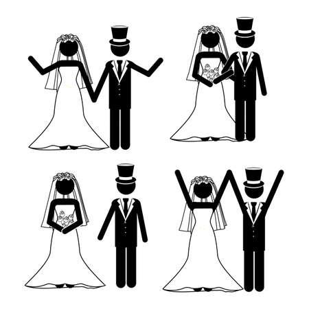 wedding design over white background vector illustration  Stock Vector - 21522149