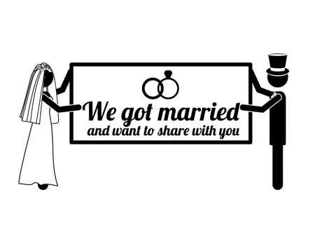 got: wedding design over white background vector illustration