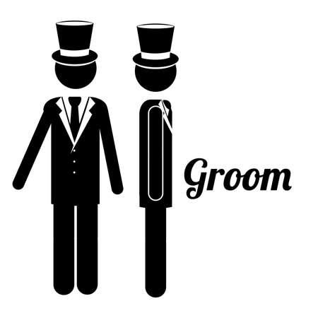 groom design over white background vector illustration Vector