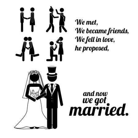 fell: married design over white background vector illustration