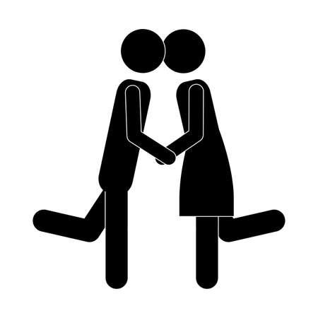 couple design over white bakground vector illustration  Illustration