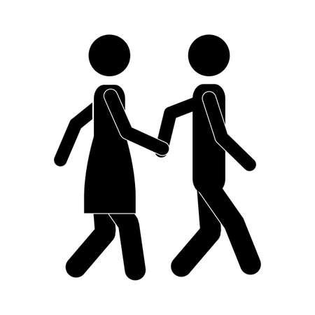 taken: couple design over white background vector illustration   Illustration