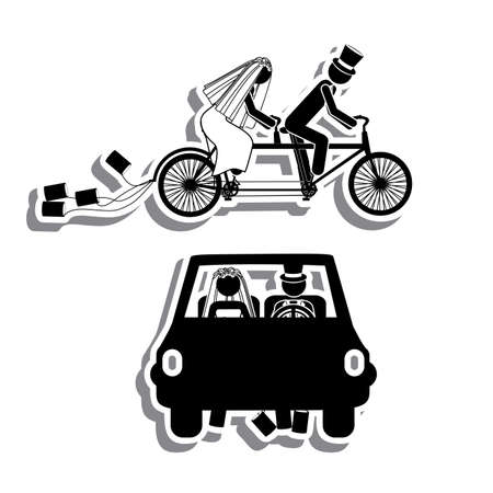 just married: just married design over white background vector illustration