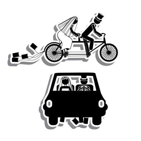 just: just married design over white background vector illustration
