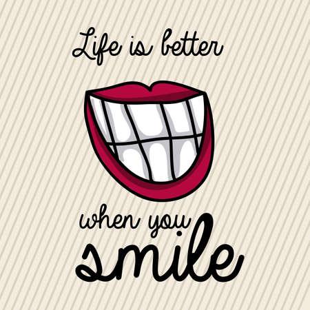 glimlach ontwerp op een witte achtergrond vector illustratie