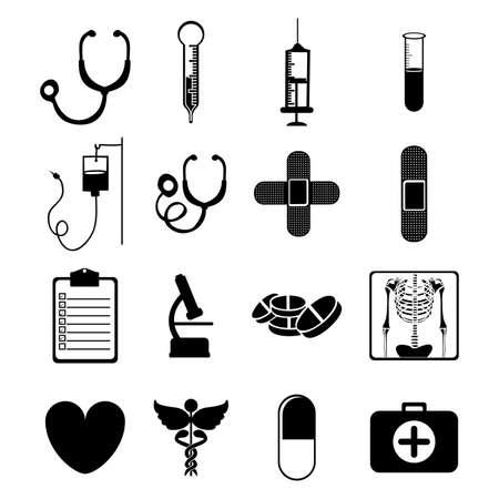cures: medical icons over pink background vector illustration  Illustration