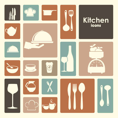 restaurant icons over white background vector illustration  Vector