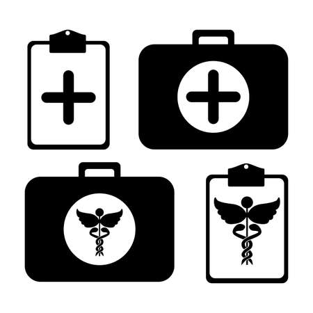 medical kit over white background vector illustration  Stock Vector - 21523086