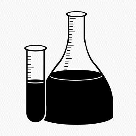 test tube with black liquid inside over white background vector illustration Stock Vector - 21522779