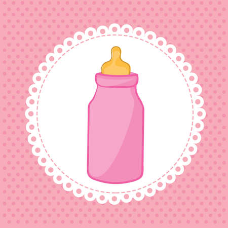 bottle baby over pink background vector illustration  Vector