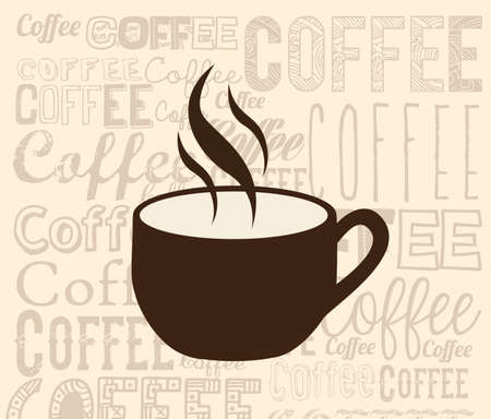 coffee design over cream background vector illustration