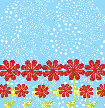 garden design over blue background vector illustration  Vector