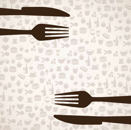 menu design over icons food background vector illustration  Vector