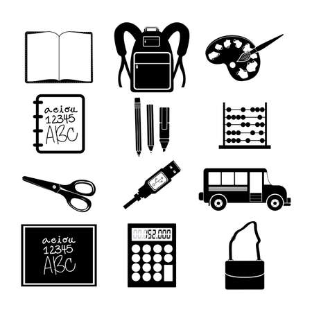 school icons over white background Illustration