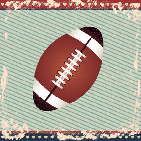 american football design over lineal background  Vector