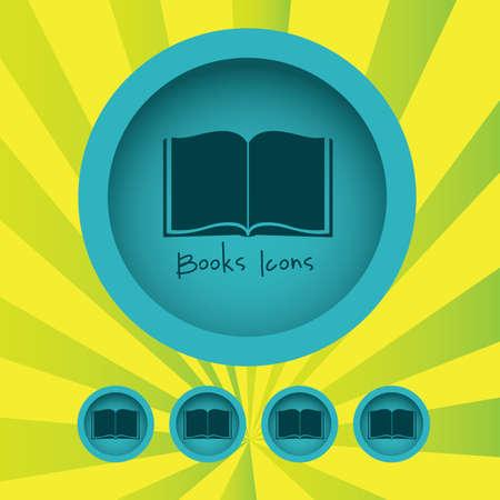 databank: book icon over grunge background.  Illustration
