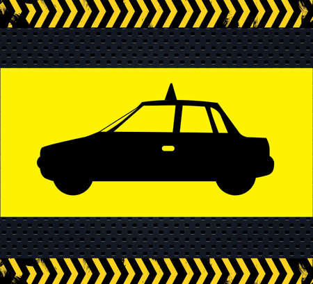 transport icon over black background Vector