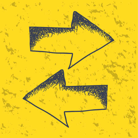 arrow icons over yellow background  Vector