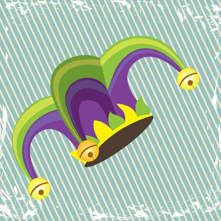 jester design over lineal background  Vector