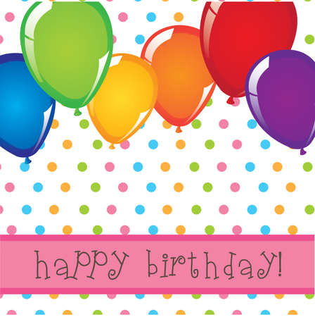 happy birthday design over dotted background  Stock Vector - 21688074