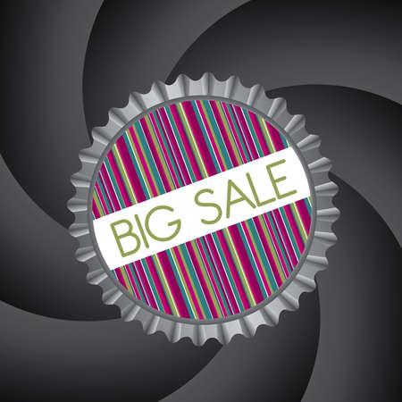 big sale design over black background Vector