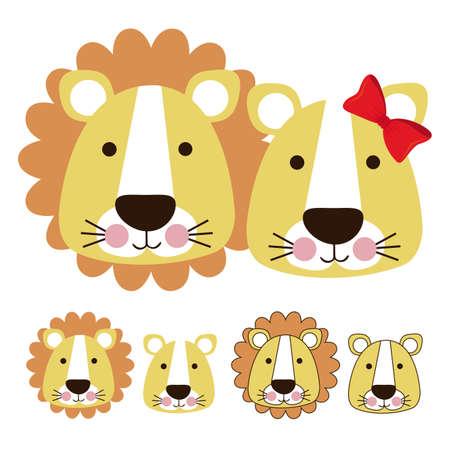 leon caricatura: leon dise�o sobre fondo blanco ilustraci�n vectorial Vectores