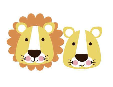 leon de dibujos animados: leon diseño sobre fondo blanco ilustración vectorial Vectores