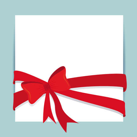 beautifull: red gift bows isolated over white background. vector illustration