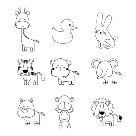 animals icons over white background vector illustration  Vector