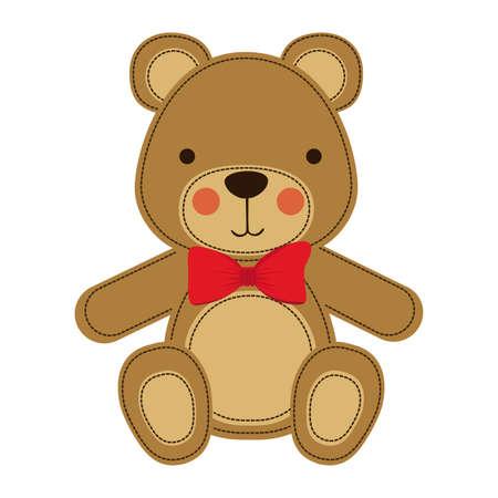 bear design over white background vector illustration