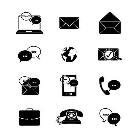 icons set over white background vector illustration