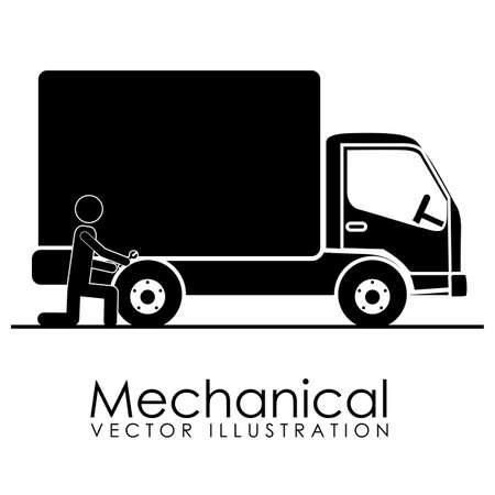 mechanical icon over white background vector illustration  Vector