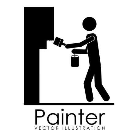 painter design over white background vector illustration Stock Vector - 21876609