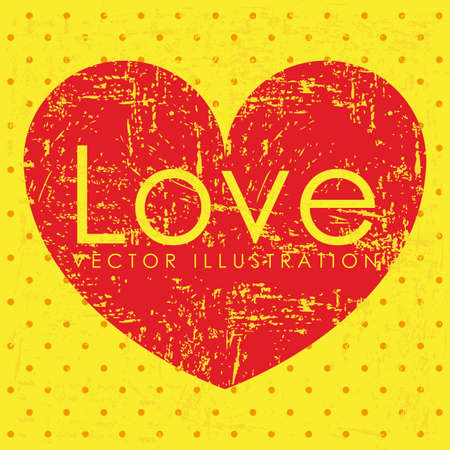 love design over dotted background vector illustration  Vector