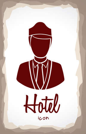 hotel label over vintage background vector illustration  Vector