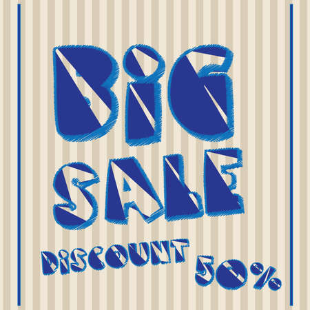 big sale label over lineal background vector illustration  Vector