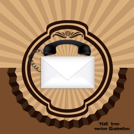 enveloped: mail icon over grunge background vector illustration