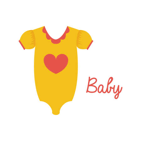 baby drees over white background vector illustration