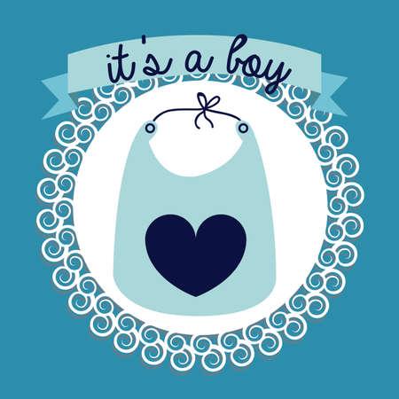 boy design over blue bakground vector illustration